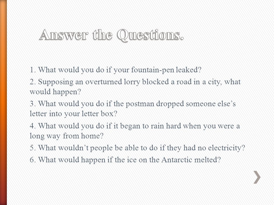 Answer the Questions.