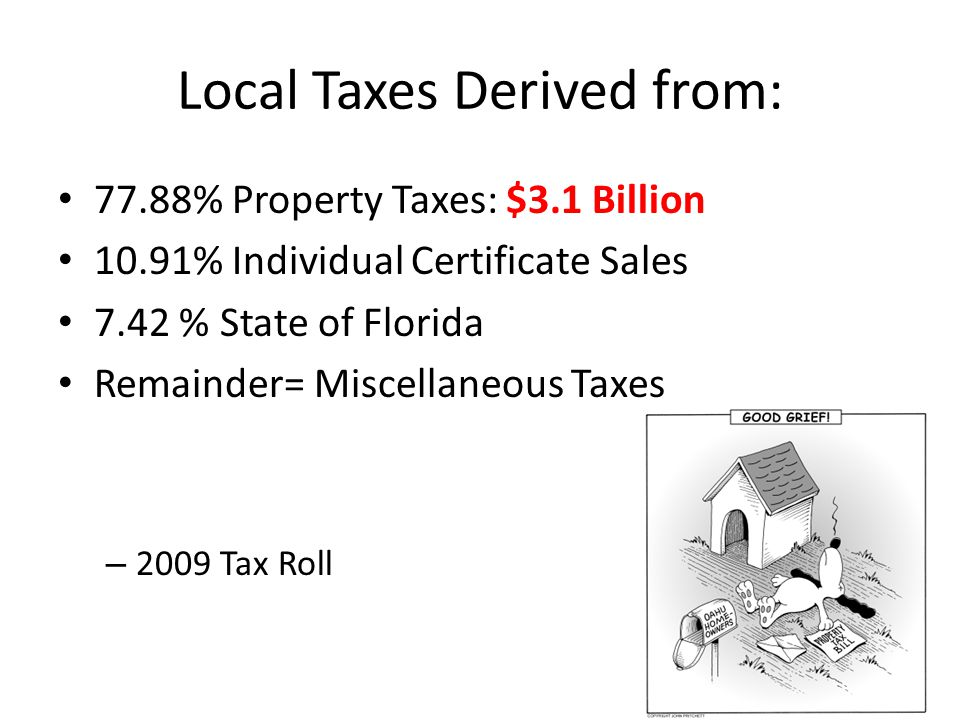 Local Taxes Derived from: