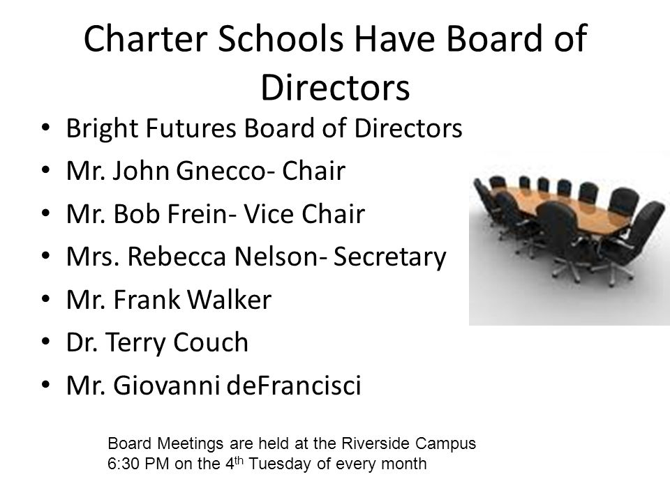 Charter Schools Have Board of Directors