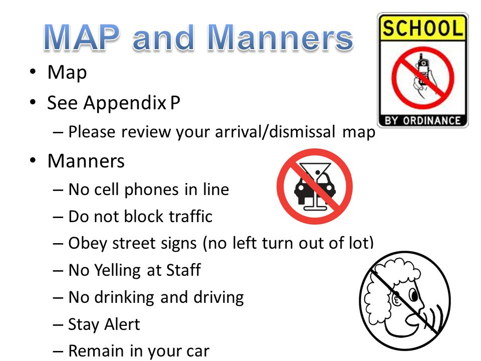 MAP and Manners Map See Appendix P Manners
