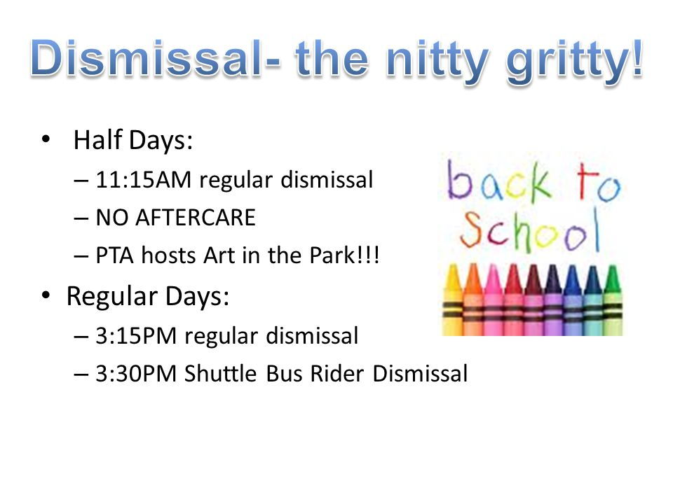 Dismissal- the nitty gritty!