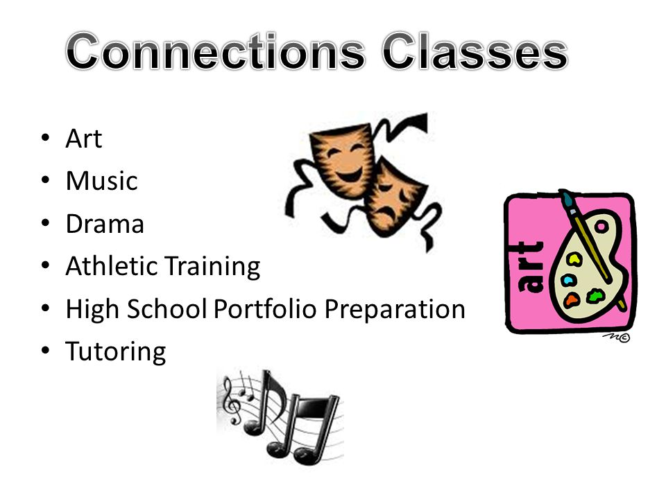 Connections Classes Art Music Drama Athletic Training