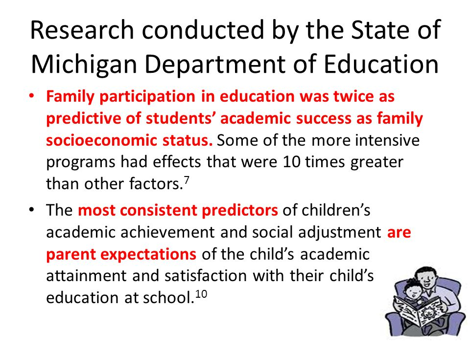 Research conducted by the State of Michigan Department of Education