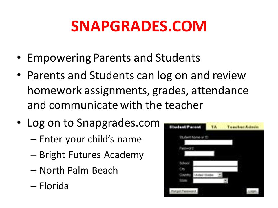 SNAPGRADES.COM Empowering Parents and Students