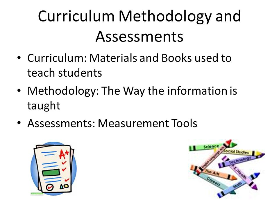 Curriculum Methodology and Assessments
