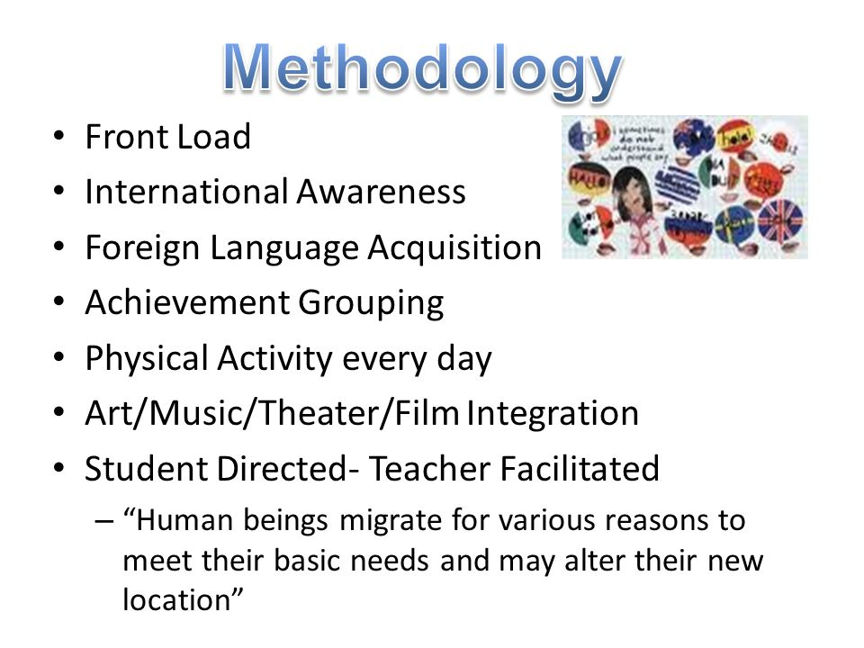 Methodology Front Load International Awareness