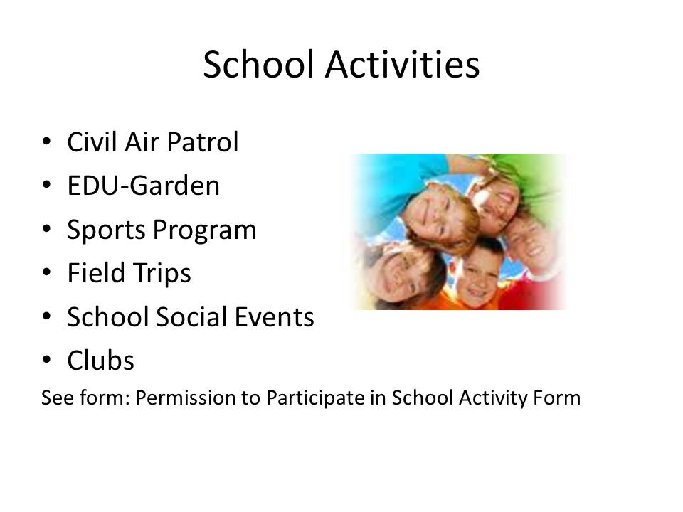 School Activities Civil Air Patrol EDU-Garden Sports Program
