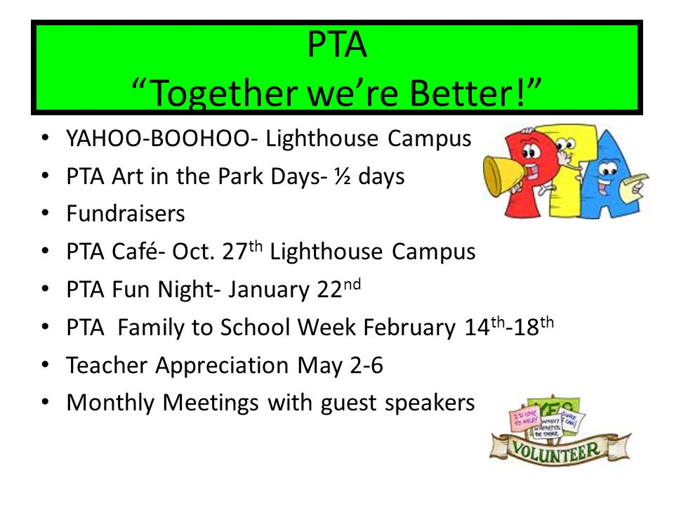 PTA Together we're Better!