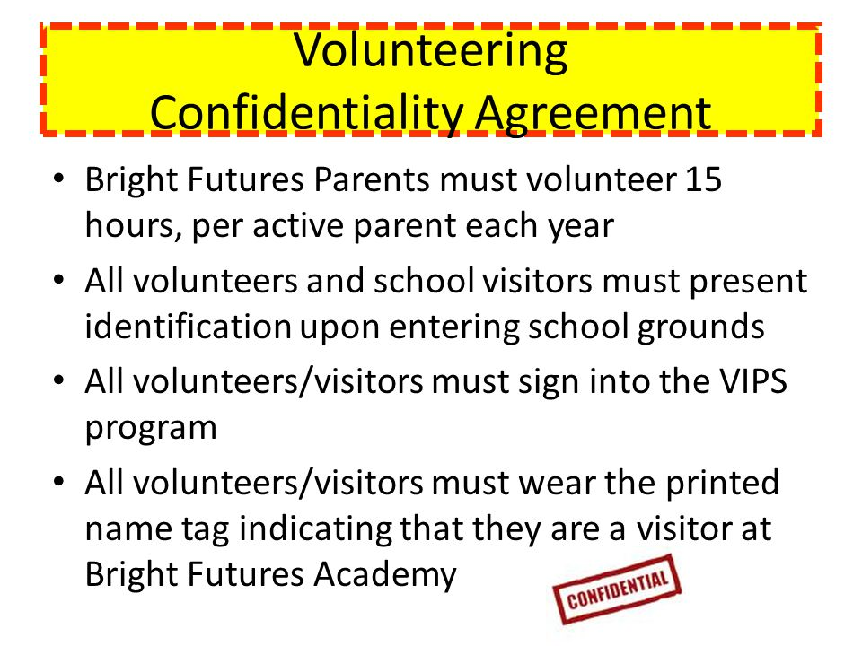 Volunteering Confidentiality Agreement