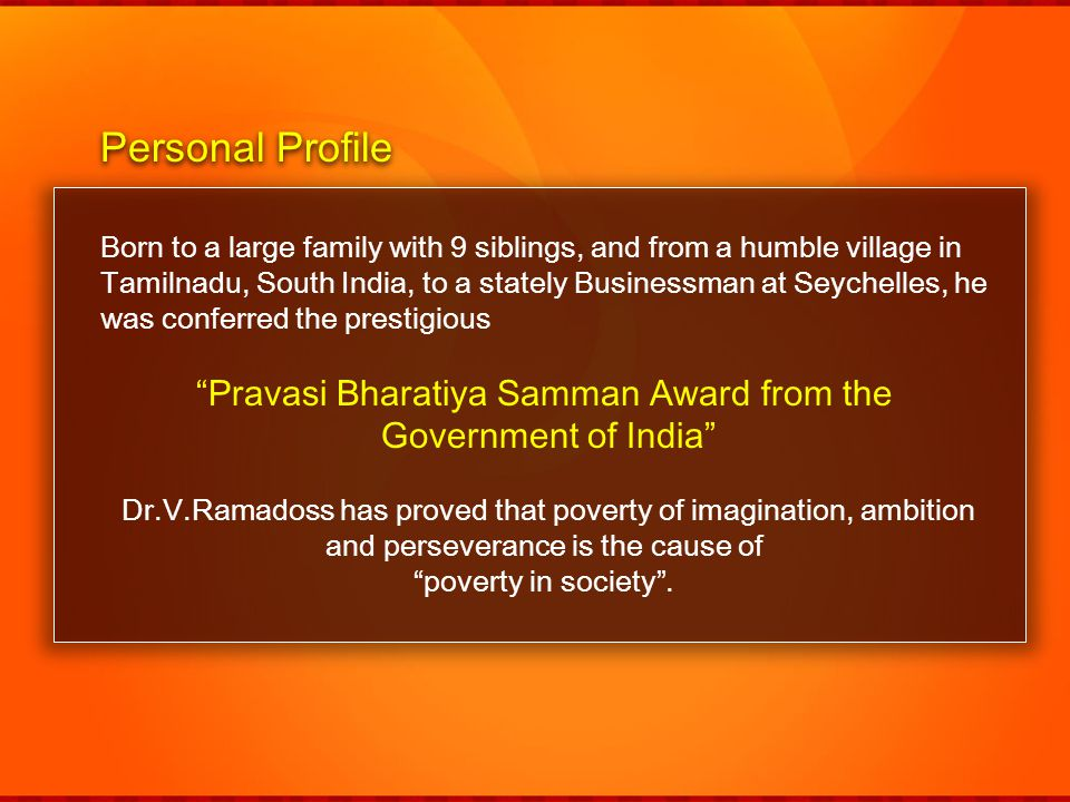 Pravasi Bharatiya Samman Award from the