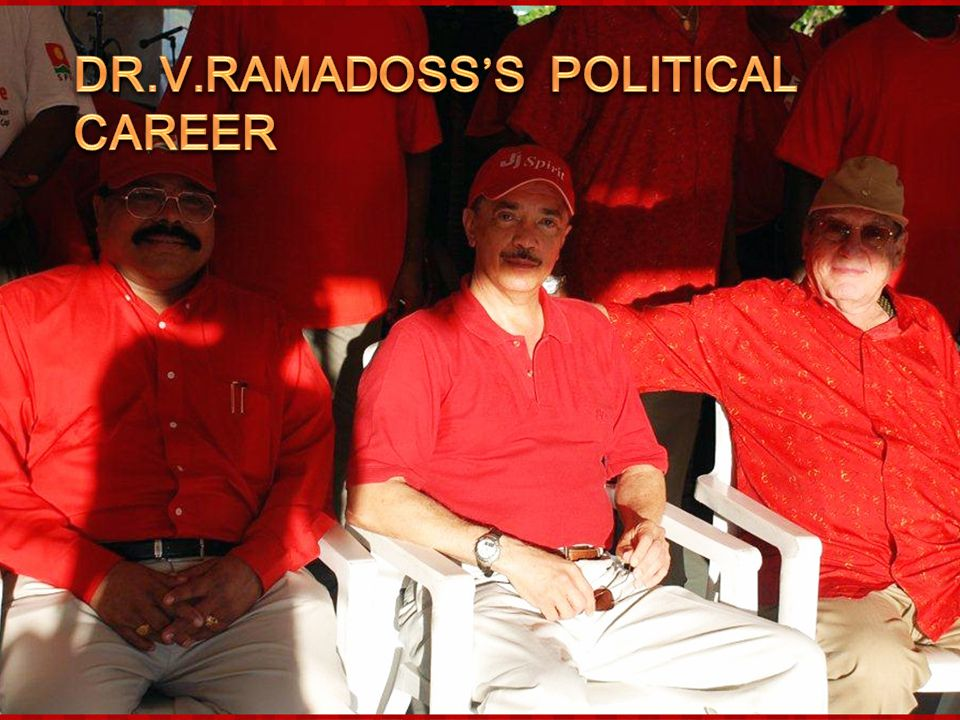 Dr.V.Ramadoss's Political Career