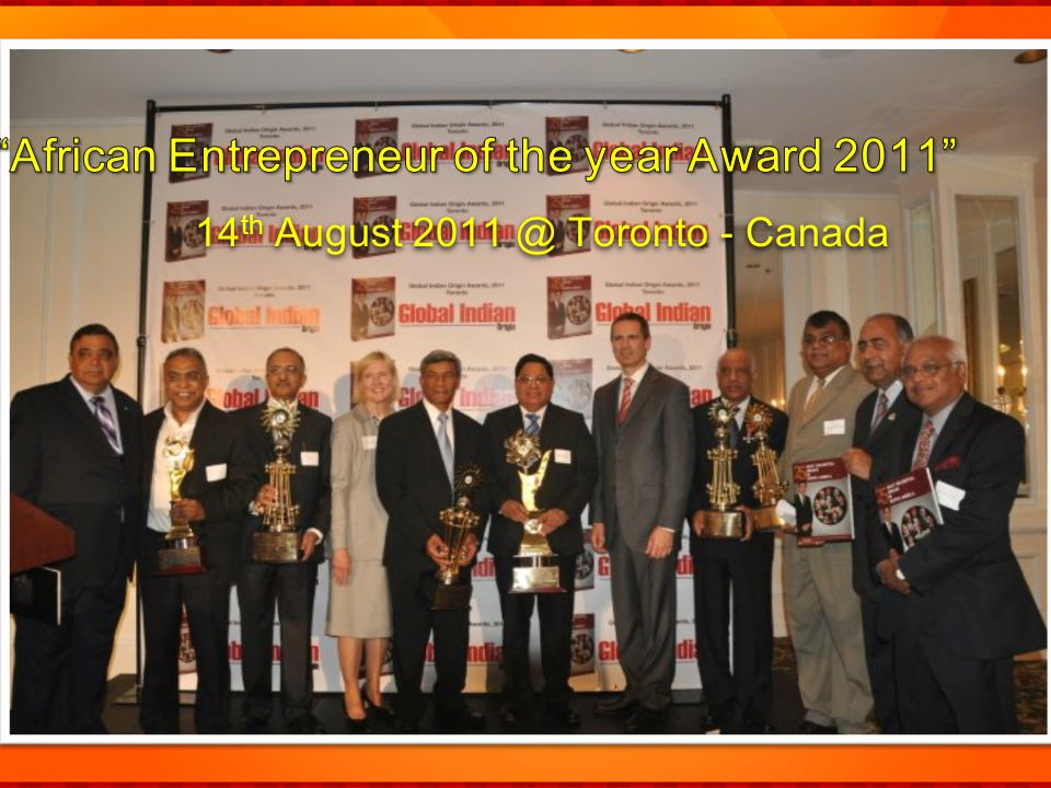 African Entrepreneur of the year Award 2011