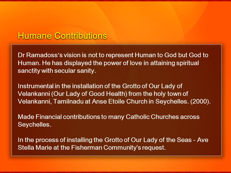 Humane Contributions