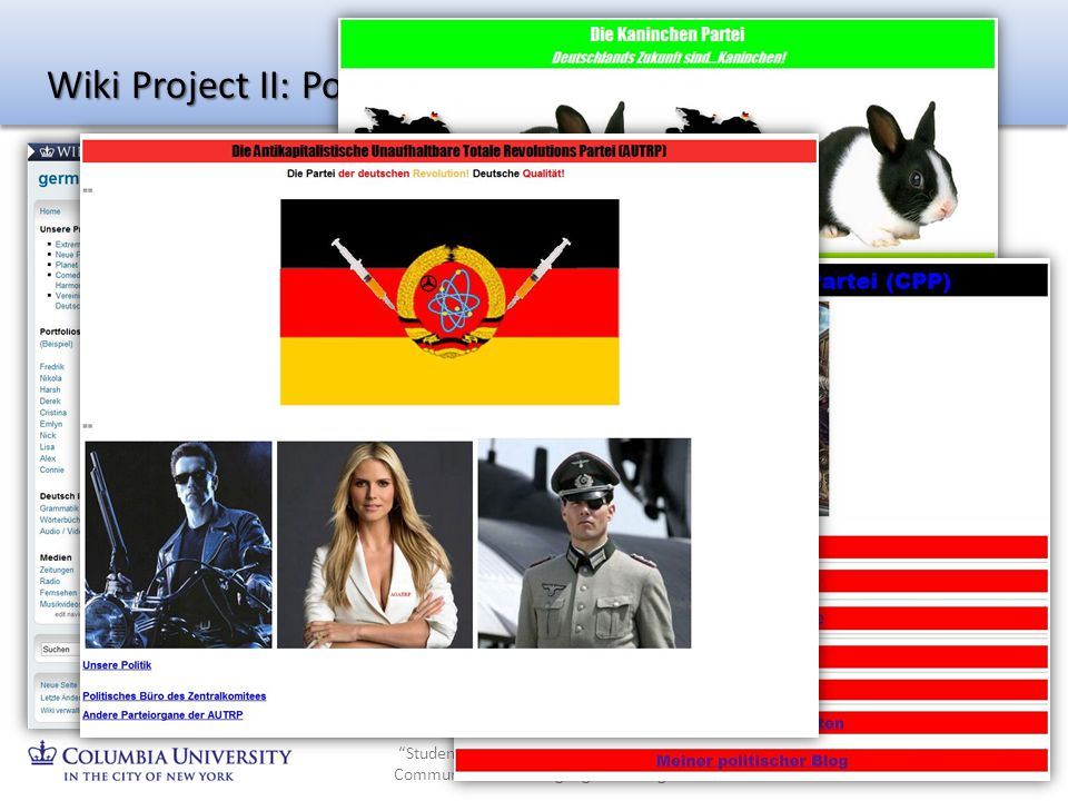 Wiki Project II: Political Parties
