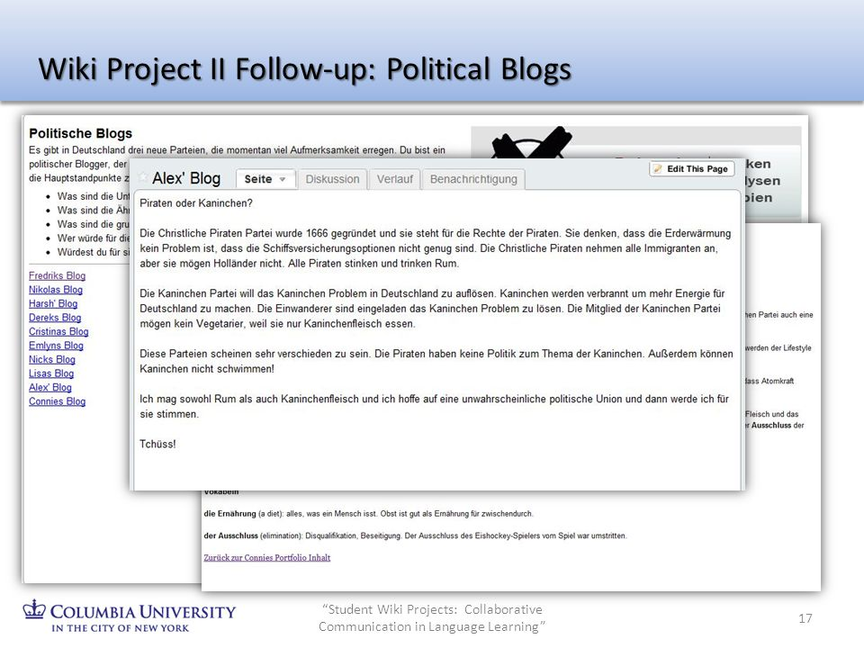 Wiki Project II Follow-up: Political Blogs