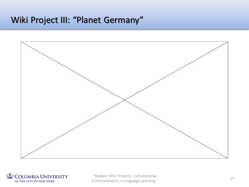 Wiki Project III: Planet Germany