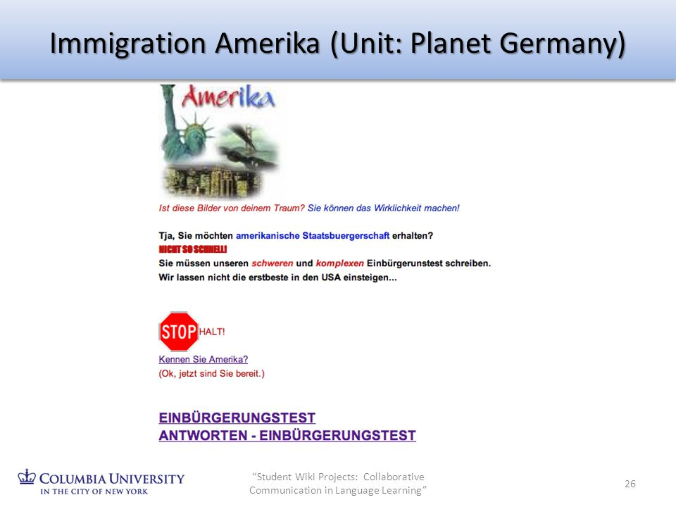 Immigration Amerika (Unit: Planet Germany)