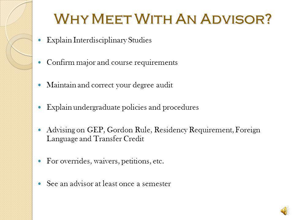 Why Meet With An Advisor