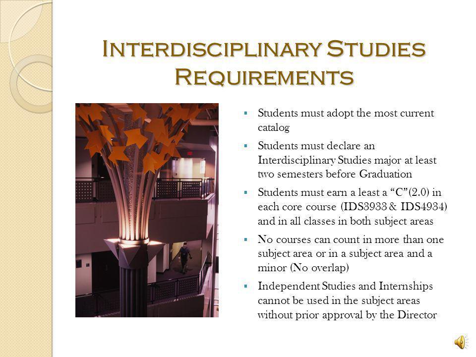Interdisciplinary Studies Requirements