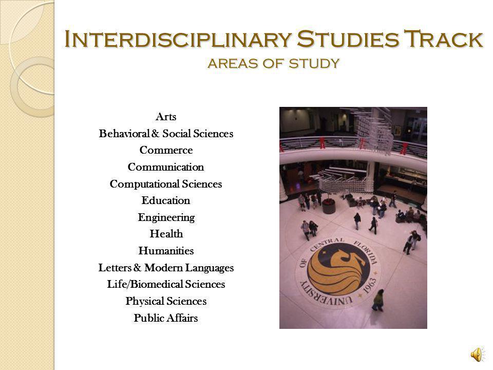Interdisciplinary Studies Track areas of study