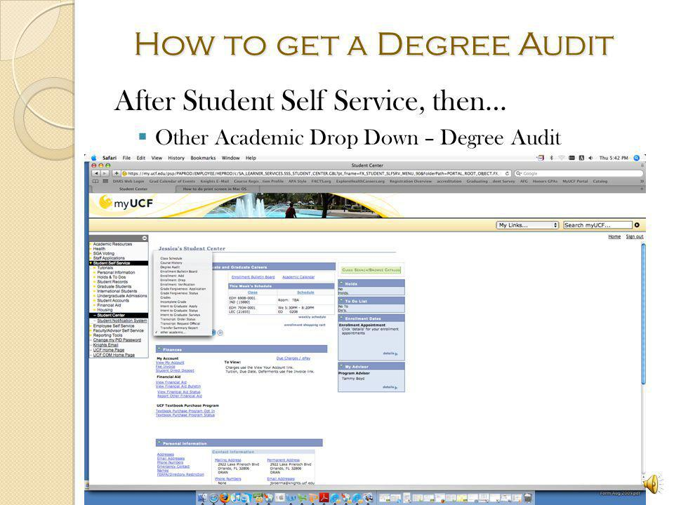 How to get a Degree Audit