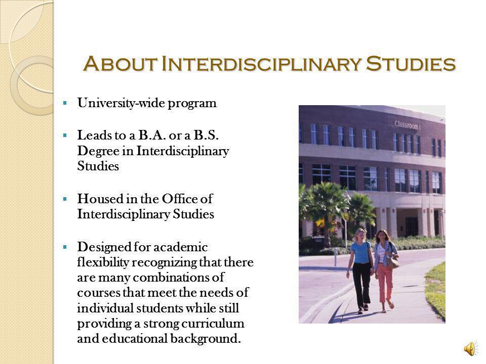 About Interdisciplinary Studies
