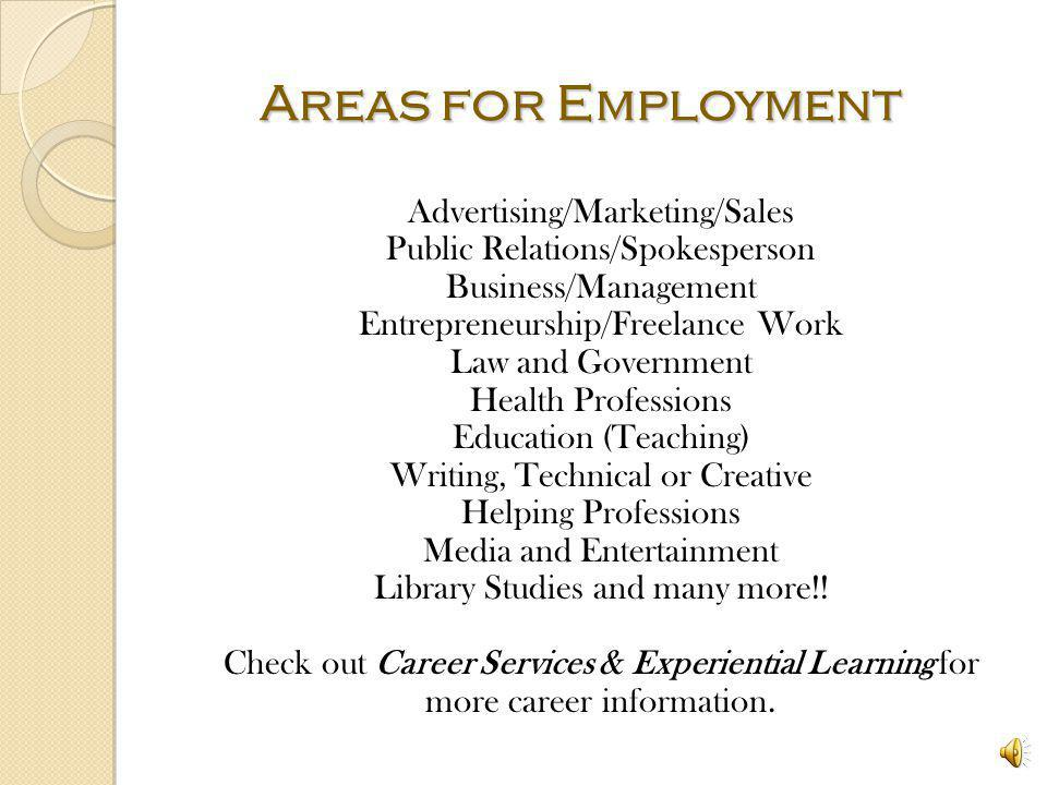 Areas for Employment