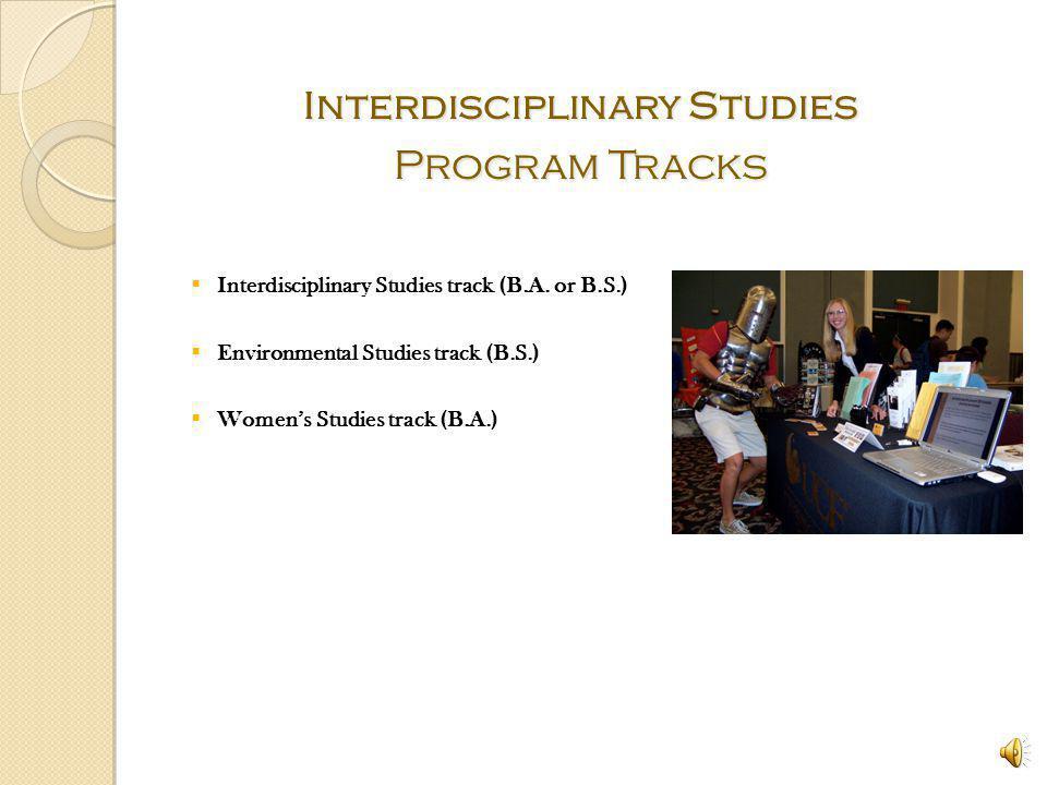 Interdisciplinary Studies Program Tracks