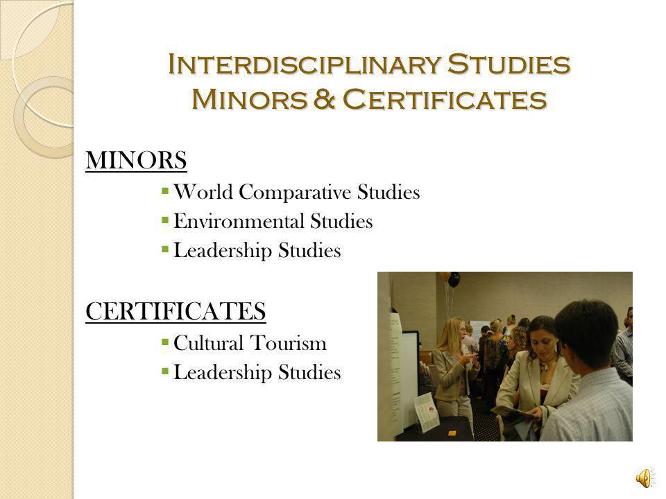 Interdisciplinary Studies Minors & Certificates
