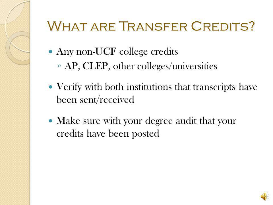 What are Transfer Credits
