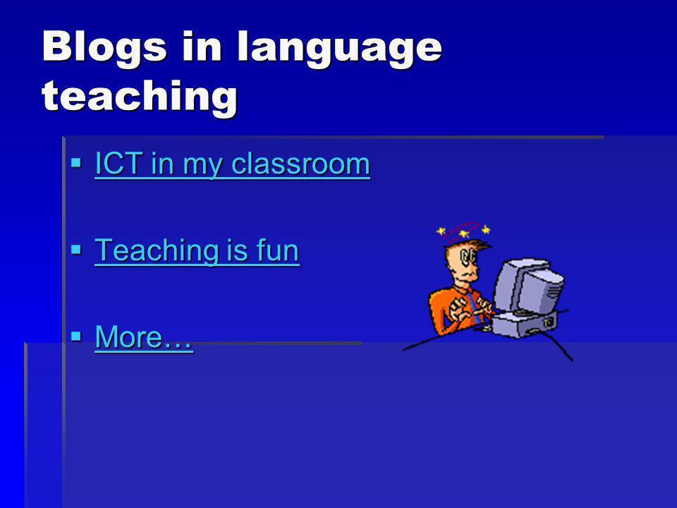Blogs in language teaching