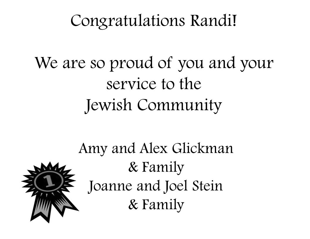Congratulations Randi! We are so proud of you and your service to the