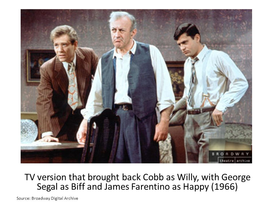 TV version that brought back Cobb as Willy, with George Segal as Biff and James Farentino as Happy (1966)
