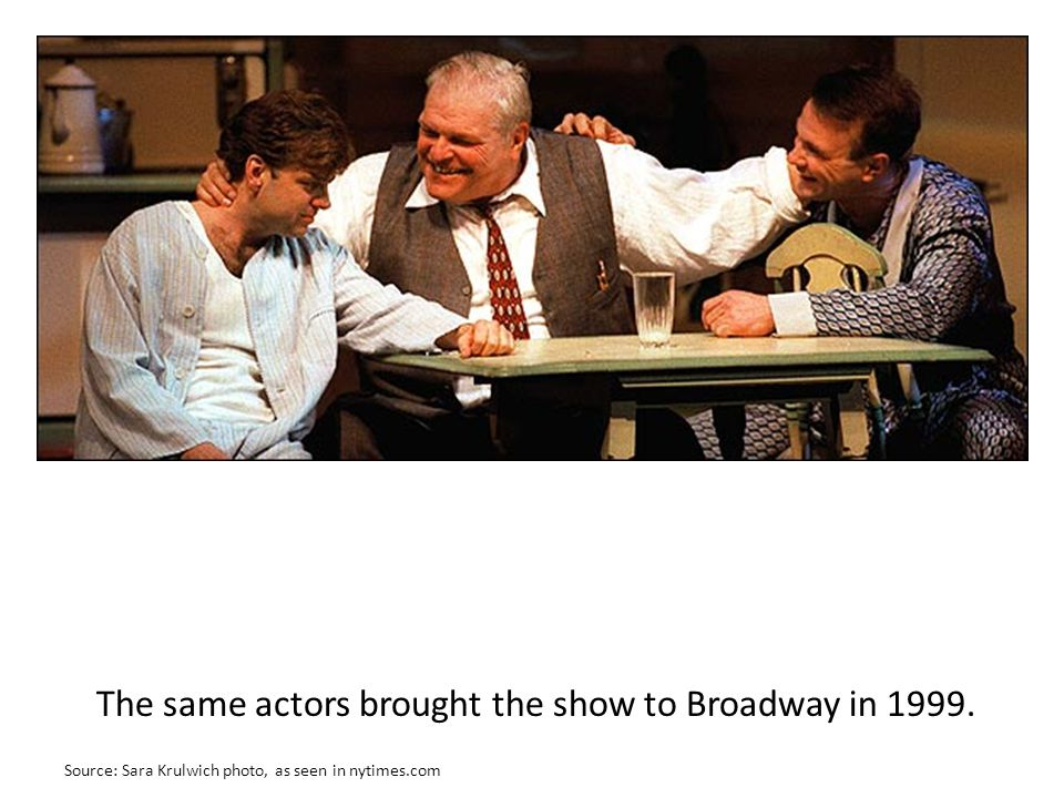 The same actors brought the show to Broadway in 1999.