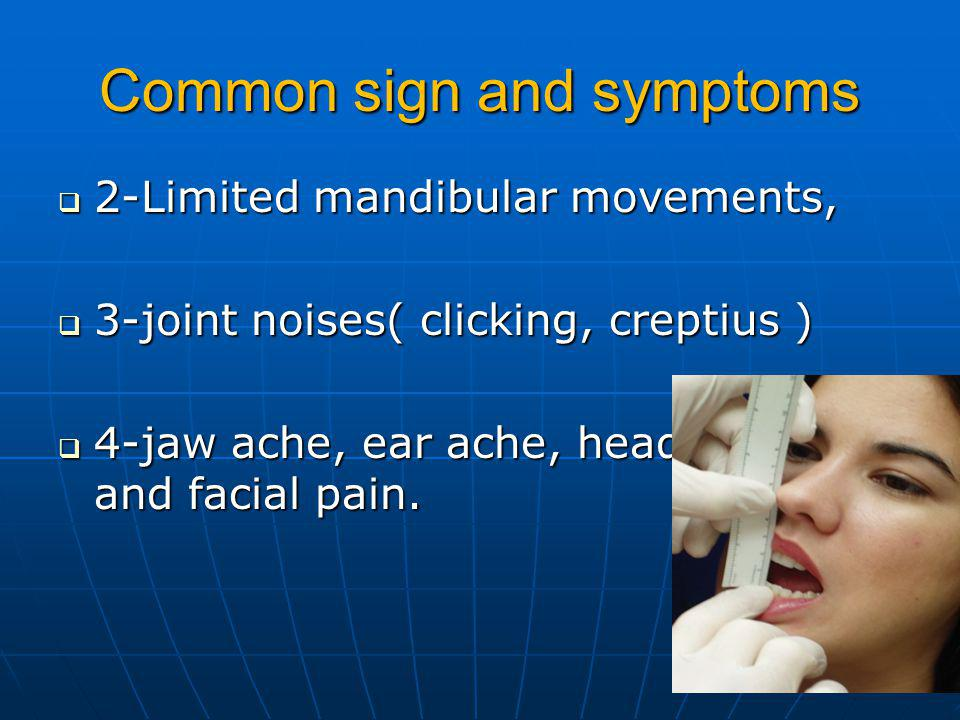 Common sign and symptoms
