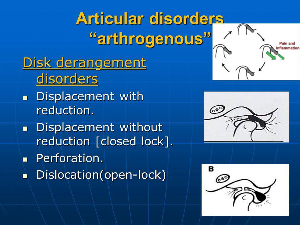 Articular disorders arthrogenous