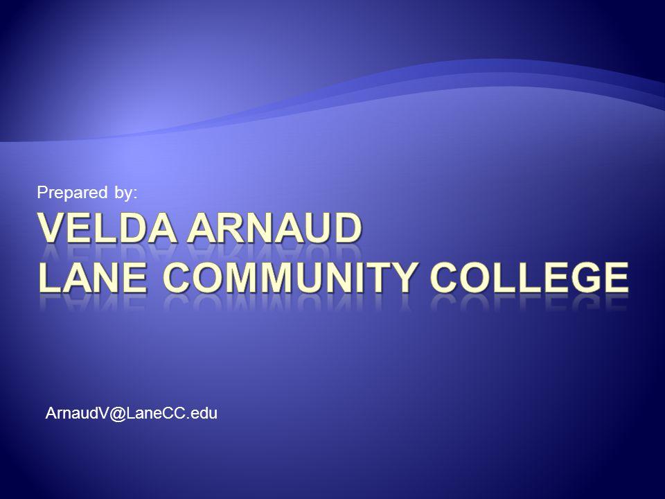 Velda Arnaud Lane Community College