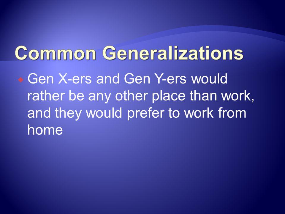 Common Generalizations