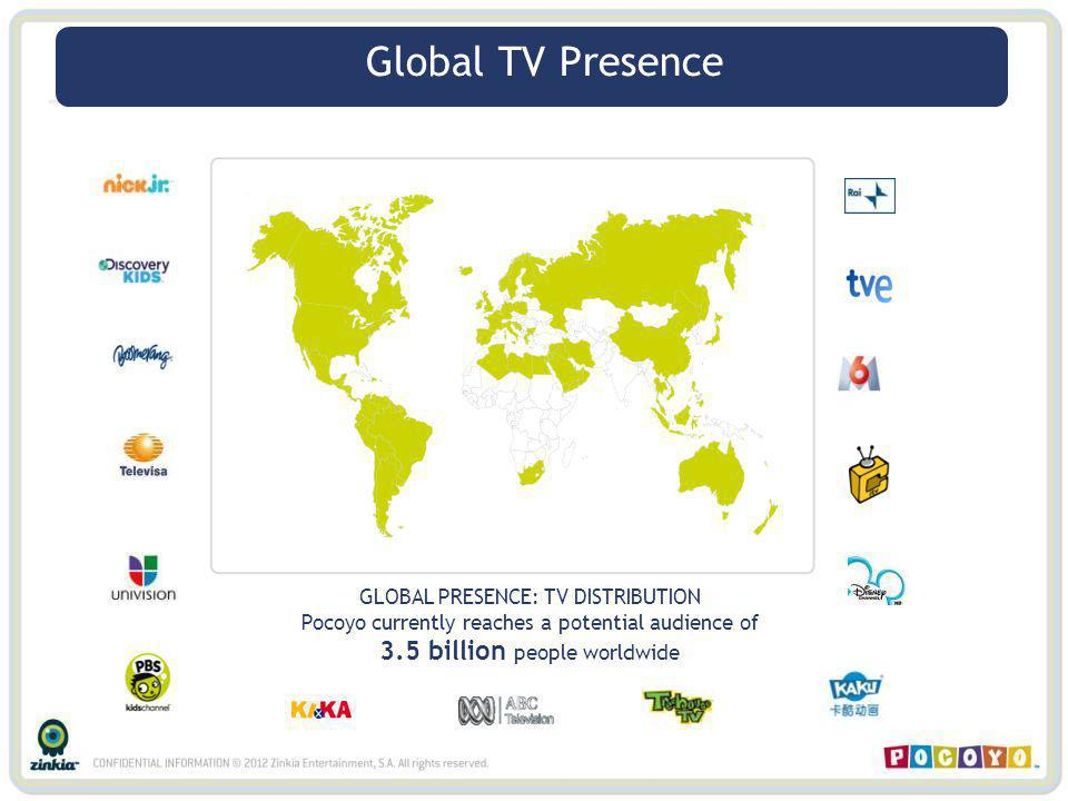Global TV Presence Global TV Presence 3.5 billion people worldwide