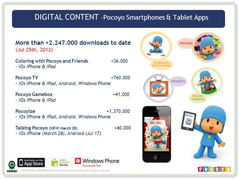 DIGITAL CONTENT -Pocoyo Smartphones & Tablet Apps