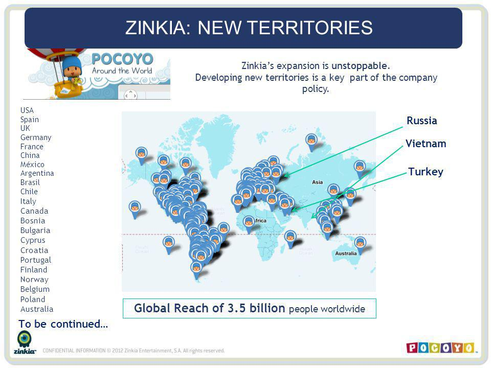ZINKIA: NEW TERRITORIES