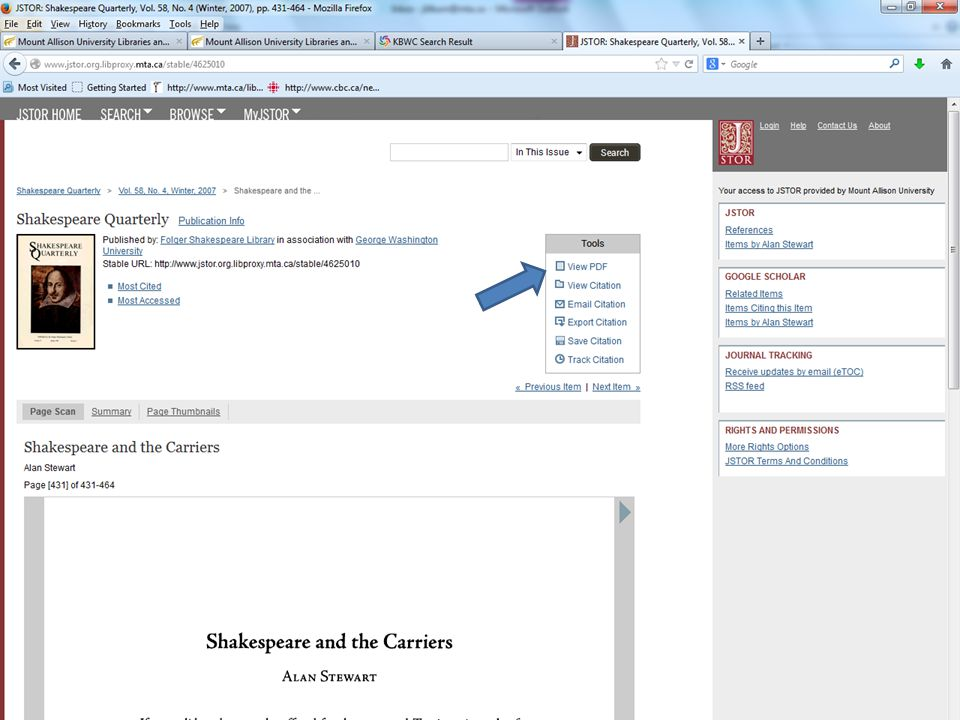 This journal is available in four library databases