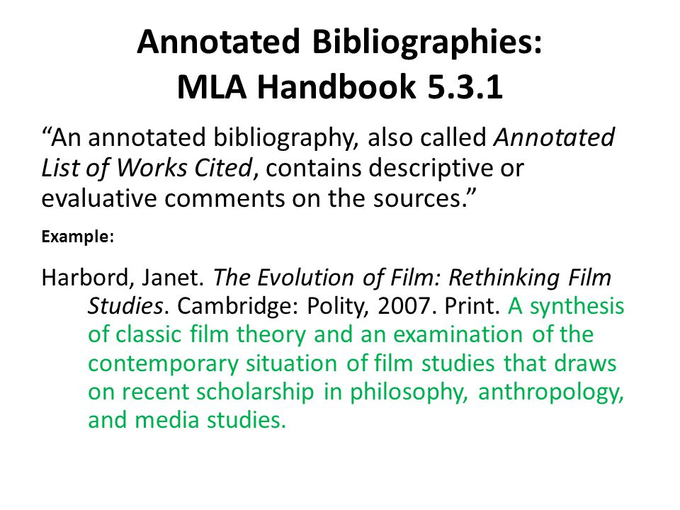 Evaluative Annotated Bibliography Mla Term Paper Help