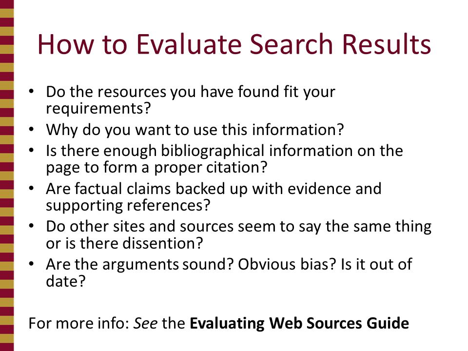 How to Evaluate Search Results