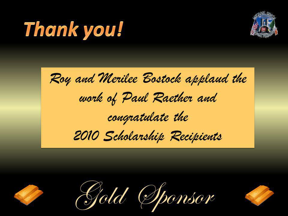 Roy and Merilee Bostock applaud the work of Paul Raether and