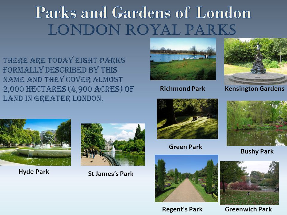Parks and Gardens of London
