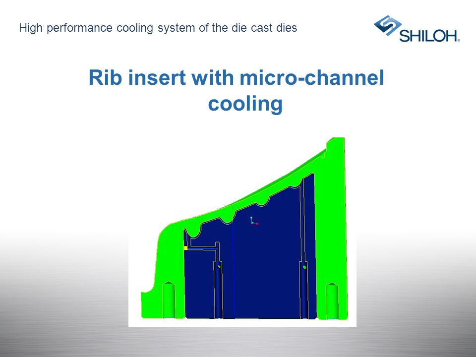 Rib insert with micro-channel cooling