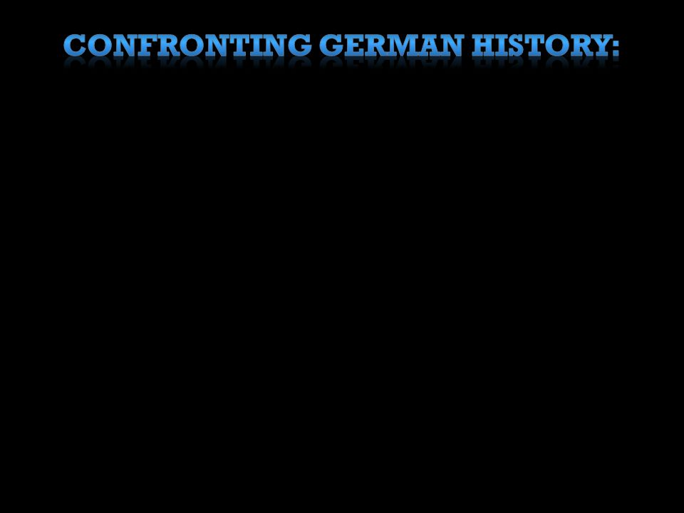 Confronting German history: