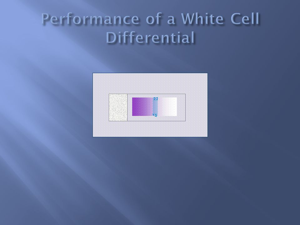 Performance of a White Cell Differential