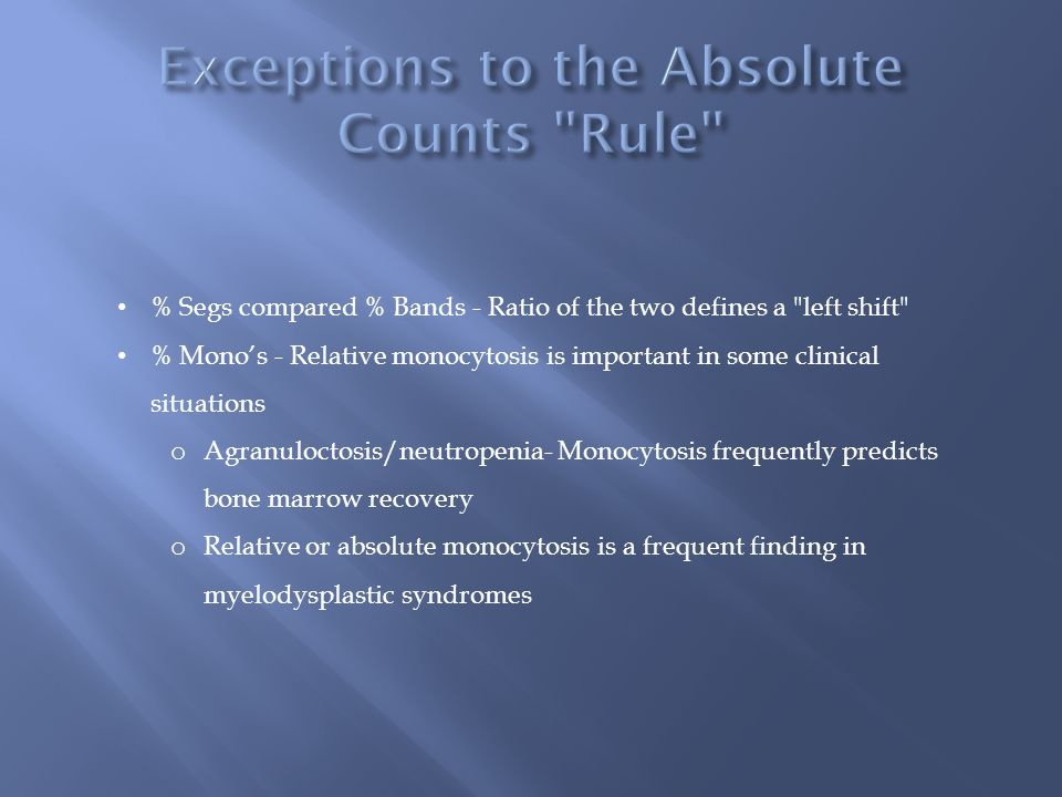 Exceptions to the Absolute Counts Rule